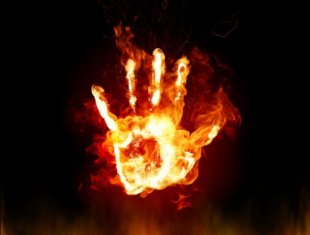Fire Hands Screensaver