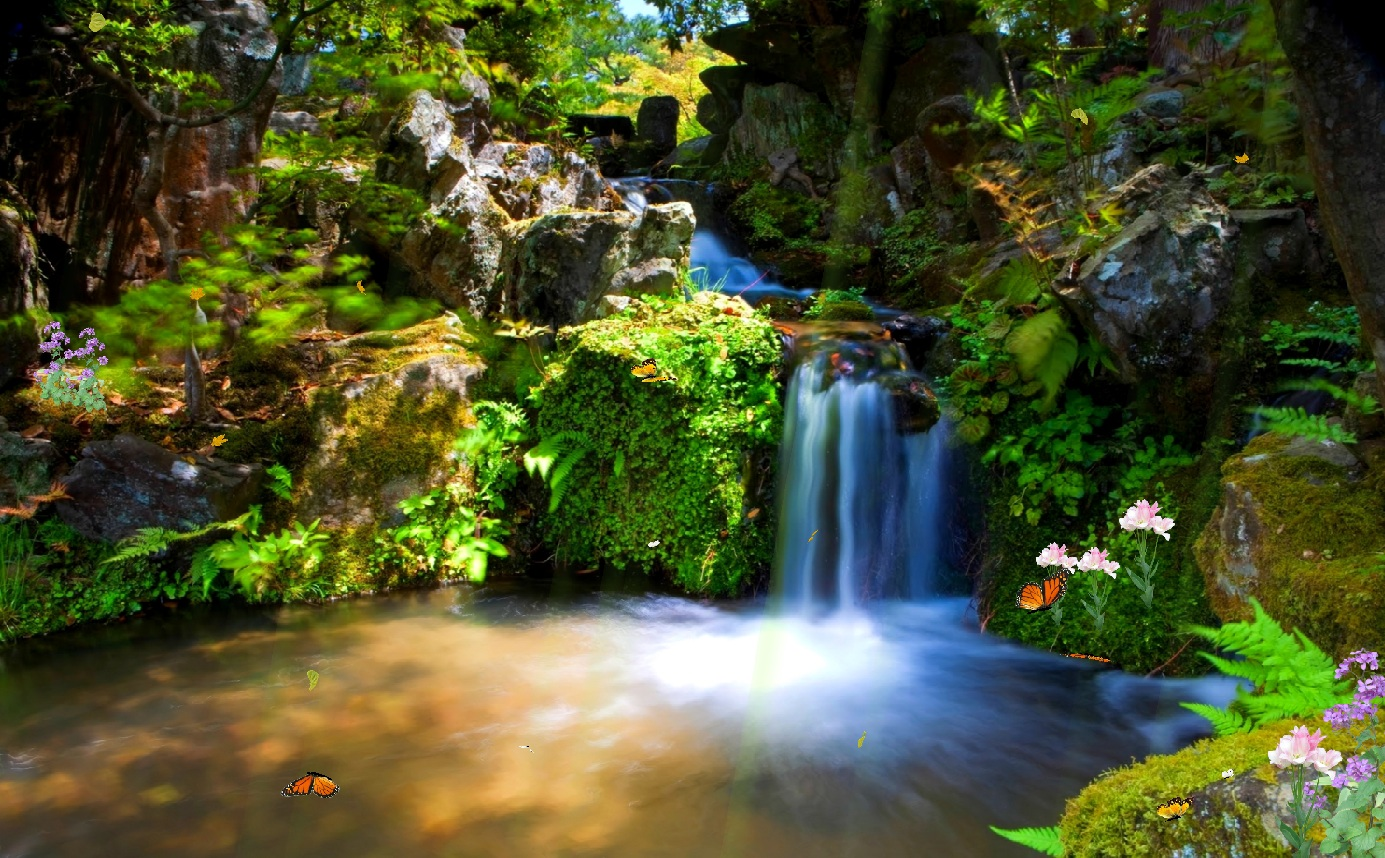 Download just paradise screensaver for Garden design windows 7