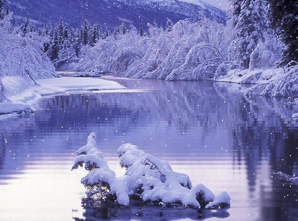Beautiful Snow Lake Screensaver