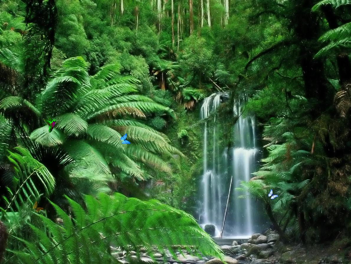 wonderful tropical waterfall dream screensaver