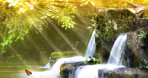 Charm Waterfall Screensaver