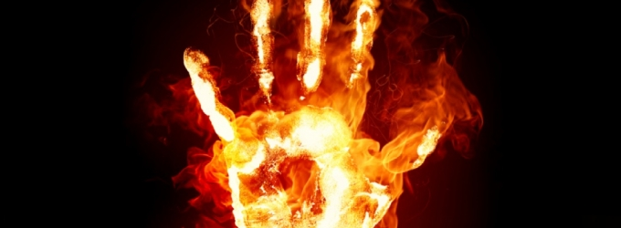 Fire Hands Screensaver