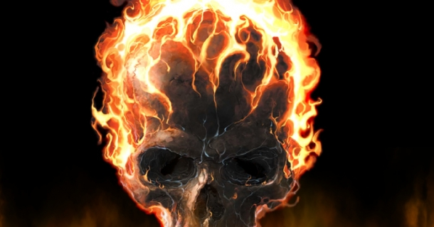 Fire Skull Screensaver