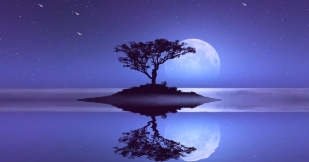 Moon Reflection Screensaver