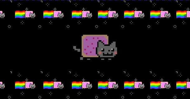 Nyan Pop Tart Cat Screensaver
