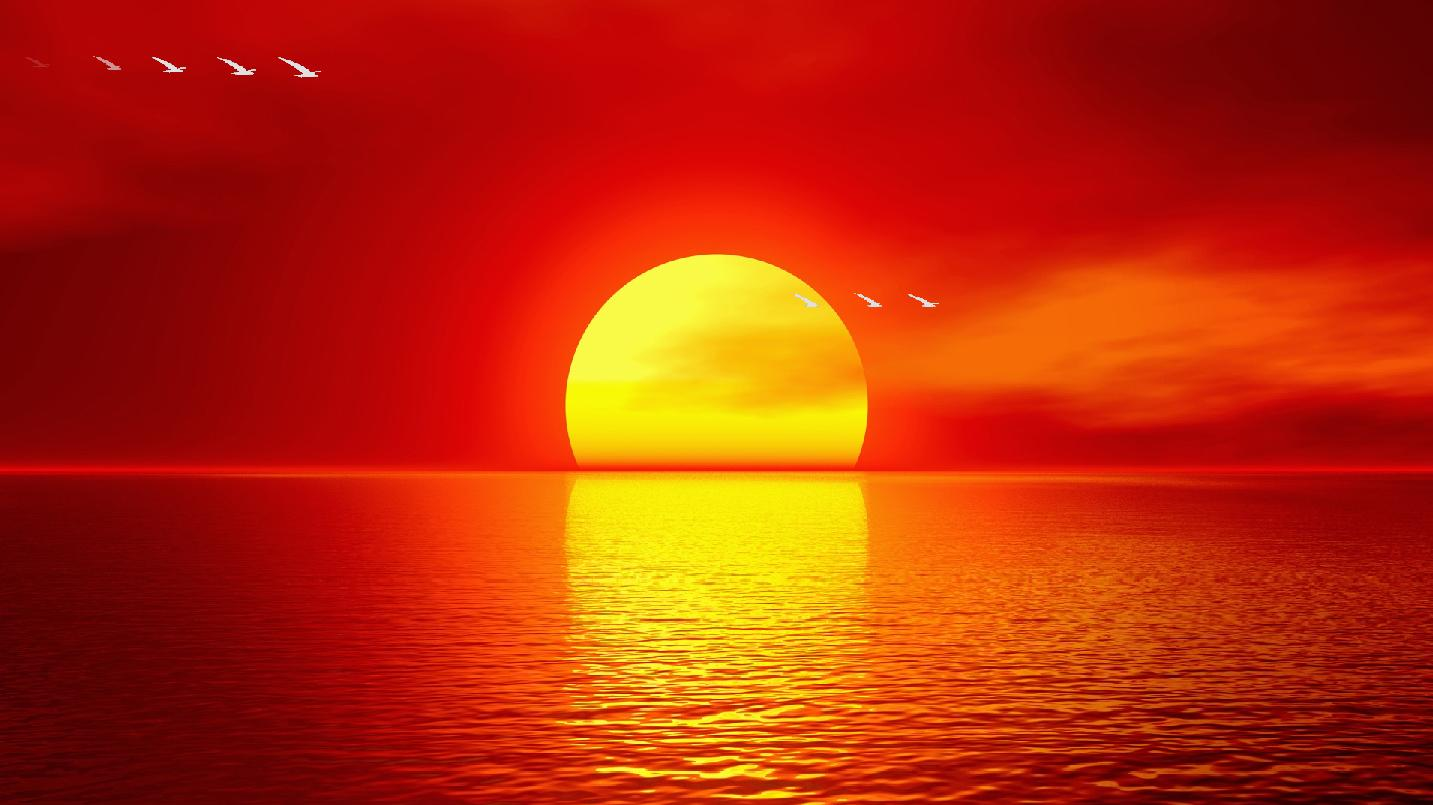 Sunset Pictures Ocean Sunset Screensaver